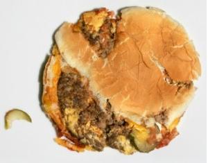 squashed burger