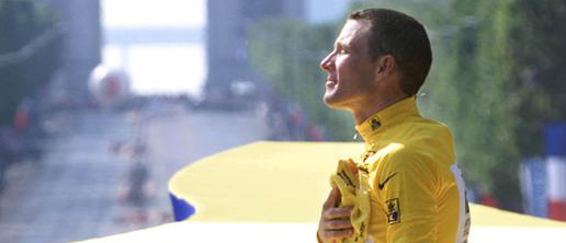 Lance Armstrong On Podium