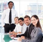 """Ok, let's begin our first monthly meeting of the Racially Diverse Stock Photo Model's Union."""