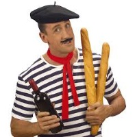 A very French man with too many baguettes
